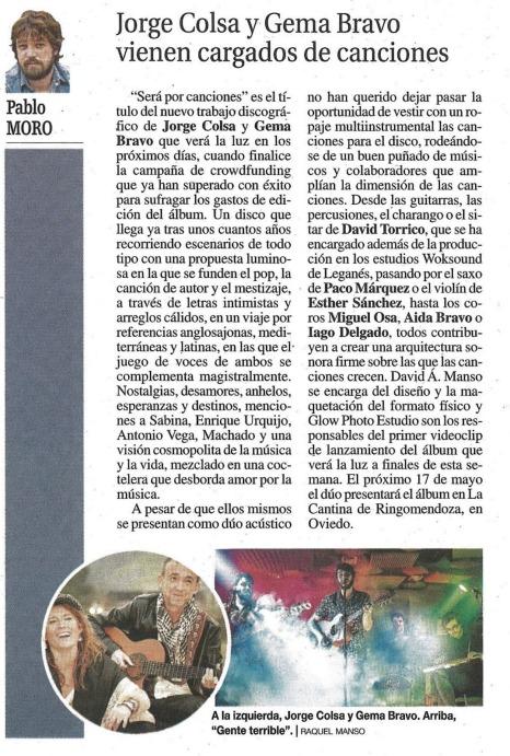 el Bafle Pablo Moro y nuestro Será por canciones Jorge Colsa y Gema Bravo